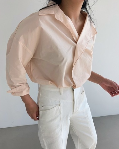 Unblance collar shirts