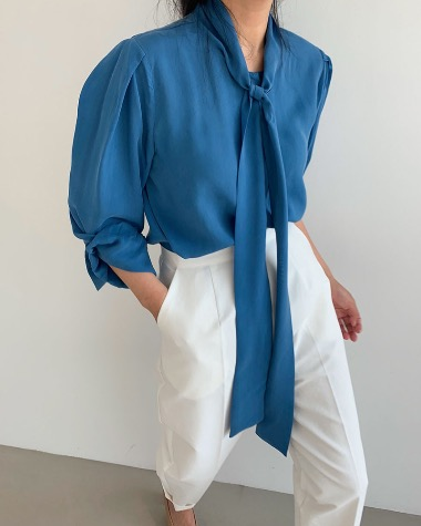 Over tie blouse