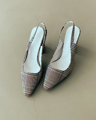 LN0312 Color check sling back