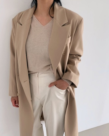 Basic line double coat