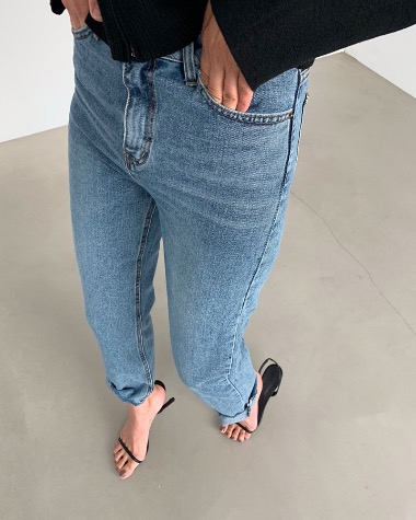 Rake cutting denim pants