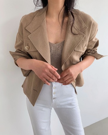 Natural pocket jacket