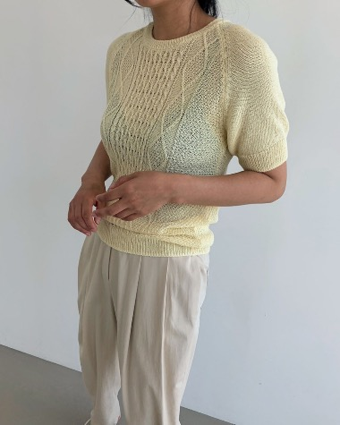 Cable twist knit
