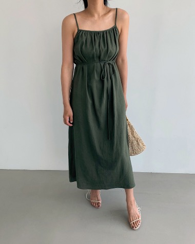 Butter shirring dress