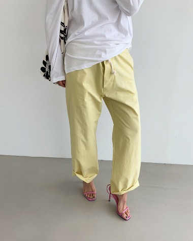 Rope cotton pants