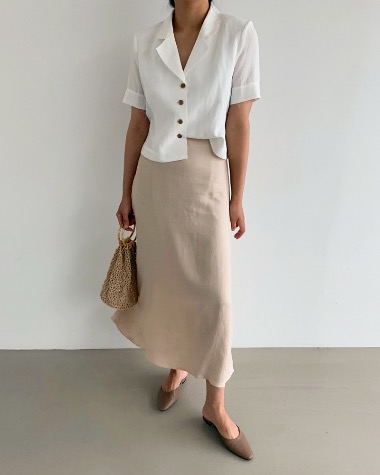 Erie linen long skirt