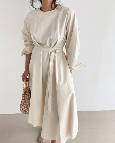 Belted cotton dress