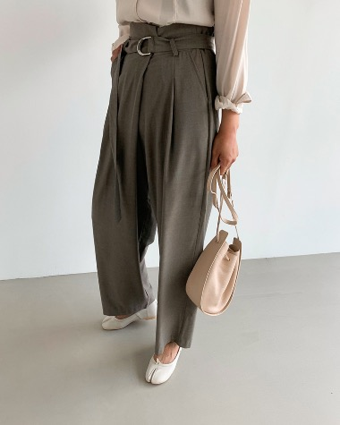 Wrap belted pants