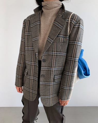 Covent check jacket