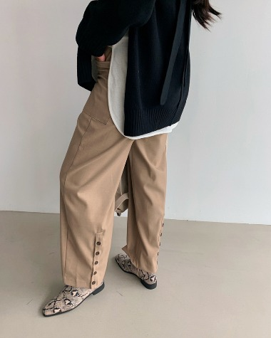Back button slacks pants