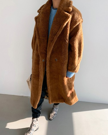 Over teddy bear coat