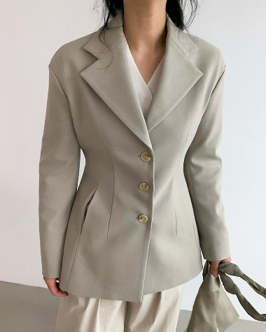 Slim dart jacket