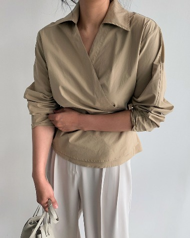 Leme wrap blouse
