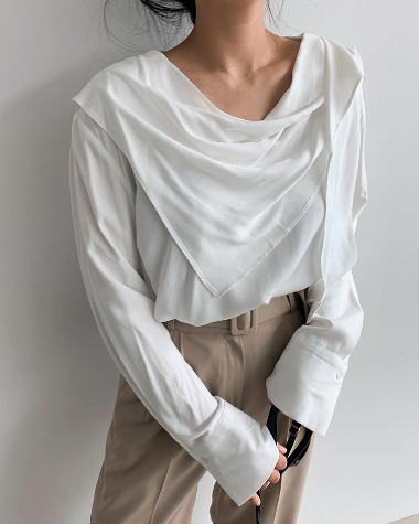 Isabel scarf blouse
