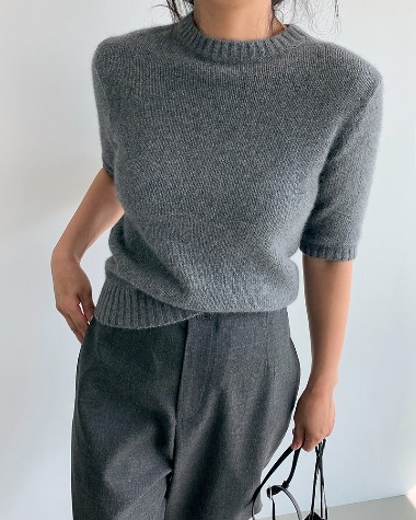 Raccoon half knit