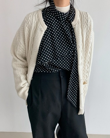 Snap twist cardigan