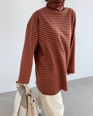 Over stripe high tee