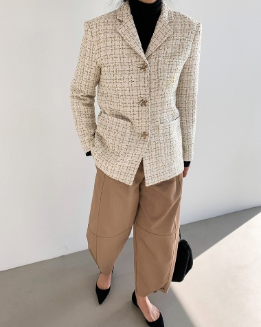 A tweed jacket